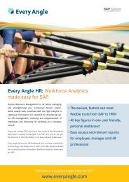 Every Angle HR: Workforce Analytics made easy for SAP www ...