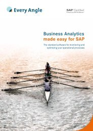 Business Analytics made easy for SAP - Every Angle