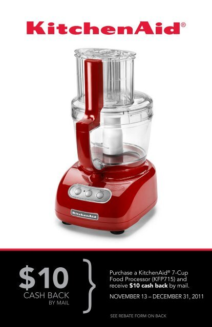 Offer good on purchases made between November 13 - KitchenAid