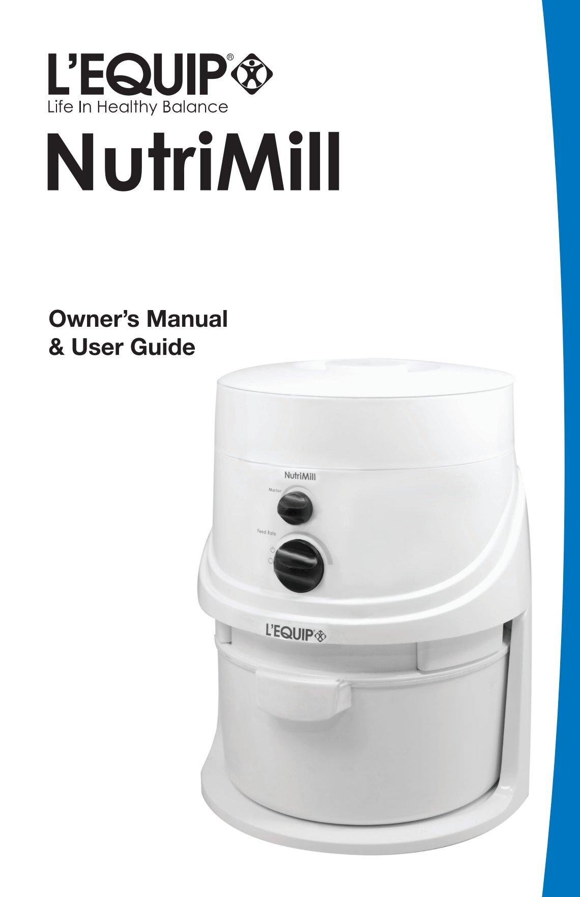 Amazon. Com: nutrimill harvest stone grain mill, 450 watt (cayenne.