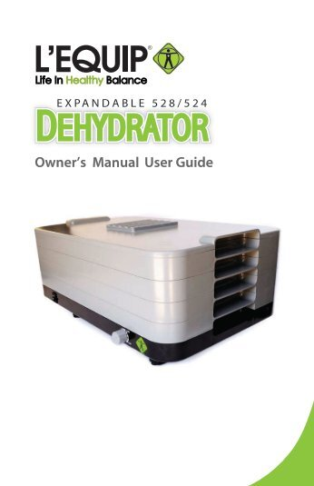 Dhr30 Professional Food Dehydrator Instruction Booklet Waring Pro