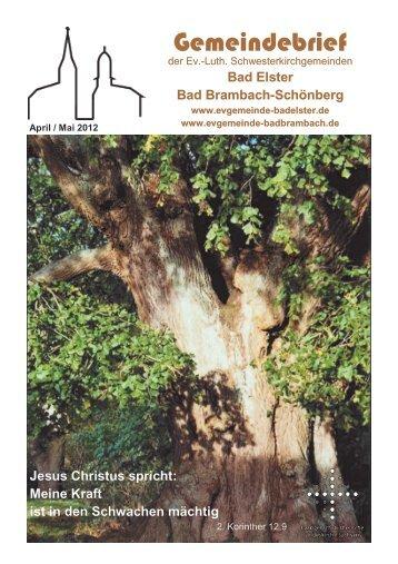 Gemeindebrief - Ev. luth. Kirchgemeinde Bad Elster