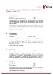 Tarifbestimmungen, gültig ab Februar 2013 (PDF, 131 KB) - SVHI ...