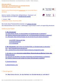 Kolorektales Karzinom (Dickdarmkrebs) - [www.Patientenleitlinien ...