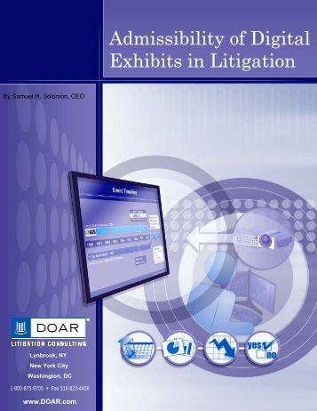 Admissibility of Digital Exhibits in Litigation - DOAR Litigation ...