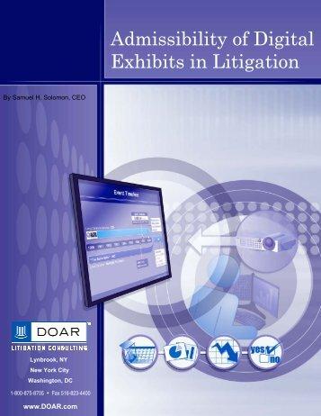 Admissibility of Digital Exhibits in Litigation - DOAR Litigation ...