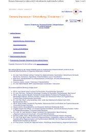 Seite 1 von 8 Demenz Impessum [evidence.de] Evidenzbasierte ...