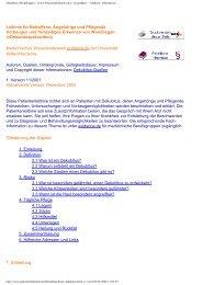 Leitlinie Dekubitus: Patienten - Patientenleitlinien