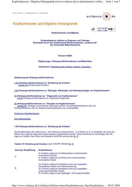 Seite 1 von 7 Kopfschmerzen / Migräne Hintergründe [www ...