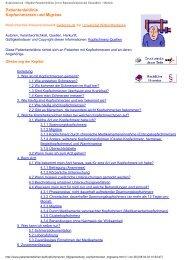 Kopfschmerzen / Migräne Patientenleitlinie - Wissensnetzwerk ...