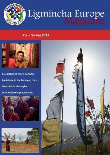 Ligmincha Europe Magazine # 8 – Spring 2013