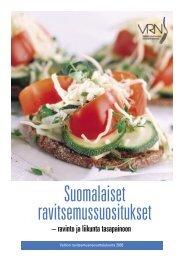 Suomalaiset ravitsemussuositukset - Valtion ...