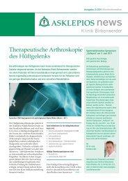 Therapeutische Arthroskopie des Hüftgelenks - Asklepios