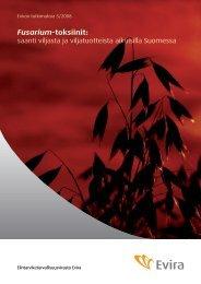 Fusarium-toksiinit: saanti viljasta ja viljatuotteista aikuisilla ... - Evira