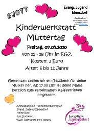 Kinderwerkstatt Muttertag 2010