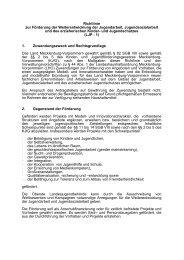 Richtlinie zur Förderung der Weiterentwicklung der Jugendarbeit ...
