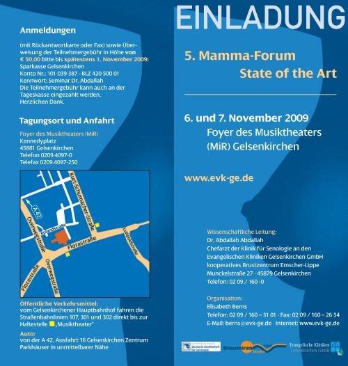 5. Mamma-Forum State of the Art 6. und 7. November 2009 ...