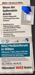 WAZ-Medizinforum in Witten Mittwoch, 7. März 20 12, 17.30 Uhr