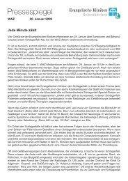 Pressespiegel - Evangelische Kliniken