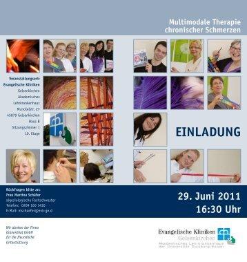 Multimodale Therapie chronischer Schmerzen 29. Juni 2011 16:30 ...