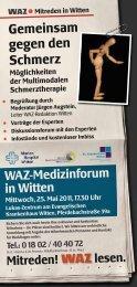 Gemeinsam gegen den Schmerz - Evangelisches Krankenhaus Witten