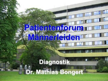 Patientenforum Männerleiden