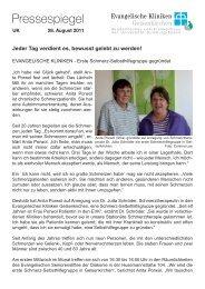 Pressespiegel - Evangelische Kliniken Gelsenkirchen GmbH