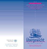 Flyer: Übergewicht - Evangelisches Krankenhaus Witten