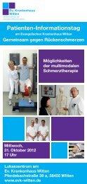 Patienten-Informationstag - Evangelisches Krankenhaus Witten
