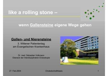 like a rolling stone - Evangelisches Krankenhaus Witten