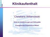 Klinikaufenthalt - Evangelisches Krankenhaus Witten