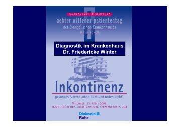 Diagnostik im Krankenhaus Dr. Friedericke Winter - Evangelisches ...