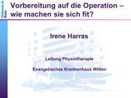 Irene Harras, Leiterin der Physikalischen Therapie - Evangelisches ...