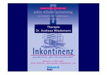 Therapie Dr. Andreas Wiedemann