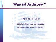 Was ist Arthrose - Evangelisches Krankenhaus Witten