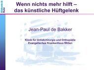 Jean-Paul de Bakker, Oberarzt der Klinik für Unfallchirurgie und ...