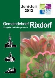 Juni-Juli 2013 - Ev. Kirchengemeinde Rixdorf