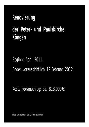 Renovierung der Peter- und Paulskirche Köngen