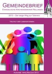 E K N 2013 ? Der lange Weg zur Toleranz - Ev. Kirchengemeinde ...