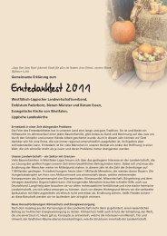 Erntedankfest 2011 - Evangelische Kirche von Westfalen
