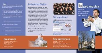 pro musica - Evangelische Kirche Bad Lippspringe