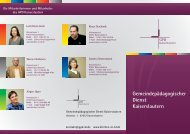 Flyer des GPD Kaiserslautern - Evangelische Kirche der Pfalz