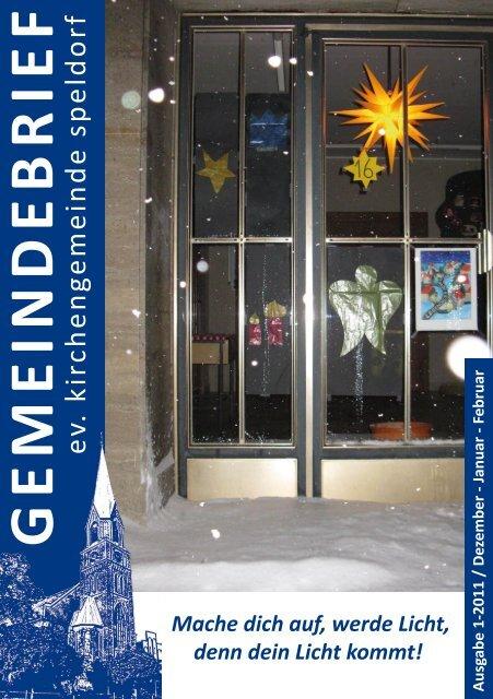 G E M E IN D E B R IE F - Evangelische Kirchengemeinde Speldorf
