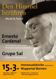 Ernesto Cardenal in Wuppertal - Evangelisch in Wuppertal
