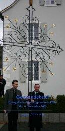 Mai bis November 2005 - Evangelische Kirche Saar