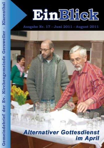 + EinBlick Nr. 17 - Juni 2011 - Evangelische Kirche Saar
