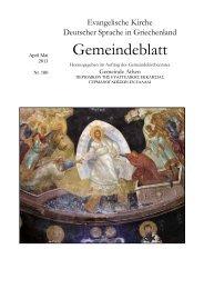April / Mai 2013 - Evangelischen Kirche Deutscher Sprache zu Athen