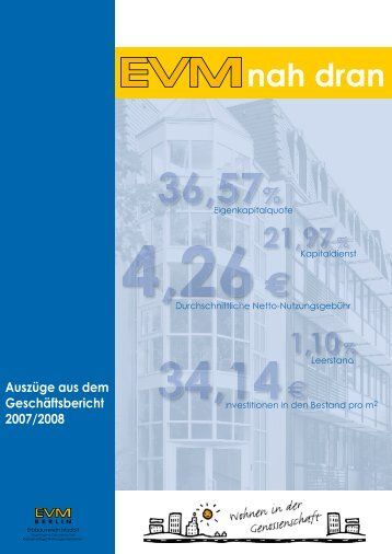 EVMnah dran Nr. 12 Auszüge aus dem ... - EVM Berlin eG