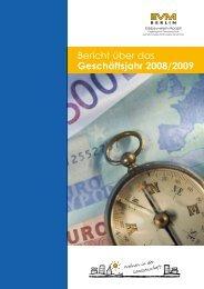 Bericht über das Geschäftsjahr 2008/2009 - EVM Berlin eG