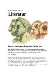 Literatur Der Altmeister erklärt die Evolution